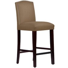 "Nadia 31"" Nail Button Bar Stool"