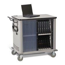20-Compartment Laptop Storage Cart