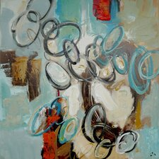 Ring Toss 1 Original Painting Wrapped on Canvas
