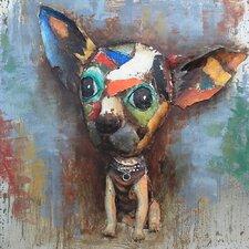 Chihuahua Chic Metal Wall Art