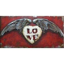Love Soars Metal Wall Art