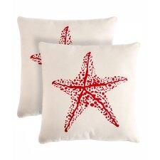 Starfish Cotton Throw Pillow (Set of 2)