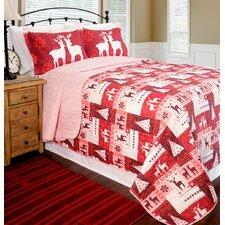 Home ID Christmas Lodge Quilt Set