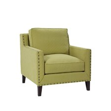 Modern Track Arm Chair with Tapered Leg