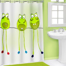 Vinyl 3D Frog Legs Shower Curtain