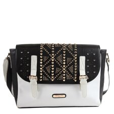 Tahlia Embellished Laser Cut Messenger Bag
