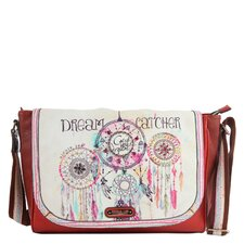Dorothy Dream Catcher Print Messenger Bag
