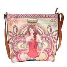 Marina Print Messenger Bag