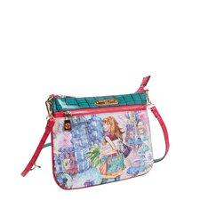 Tulip Girl Print Mini Crossbody Bag