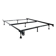 7 Leg Adjustable Metal Bed Frame with Center Support & Glide