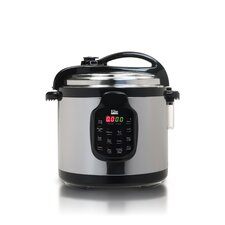 Platinum 6 Qt. Electric Stainless Steel Pressure Cooker with Stainless Steel Pot