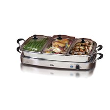 Platinum Deluxe 7.5-qt. Stainless Steel Electric Buffet Server