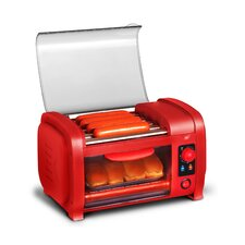 2-Slice Hot Dog Roller Toaster Oven