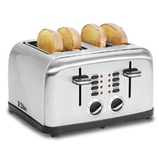 Platinum Stainless Steel 4 Slice Toaster