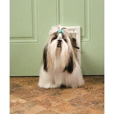 "7-5/8"" x 11-1/8"" Small White Plastic Pet Door"