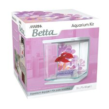 Marina 0.5 Gallon Flower Design Betta Aquarium Kit