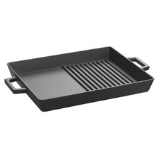 "ECO Enameled Cast-Iron 10""x 12"" Combo Grill-Griddle Pan"