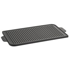 "ECO Enameled Cast-Iron 18.5""x 12"" Reversible Grill Pan & Griddle"