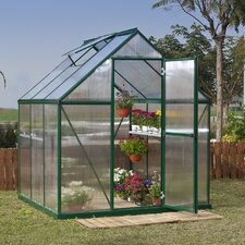 Nature Twin Wall 6 Ft. W x 6 Ft. D Polycarbonate Greenhouse