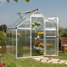 Nature Twin Wall 6 Ft. W x 6 Ft. D Plastic Polycarbonate Greenhouse