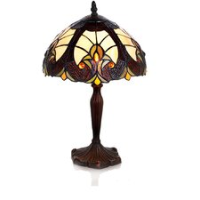 "Stained Glass Halston 16"" H Table Lamp with Bowl Shade"