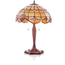 "Allistar Stained Glass 25"" H Table Lamp with Bowl Shade"