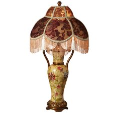 """Downton Abbey 29"""" H Fringe Table Lamp with Bowl Shade"""