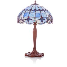 "Allistar Stained Glass 24"" H Table Lamp with Bowl Shade"