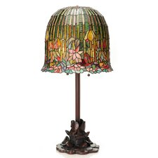 "Tiffany Pond Lily Stained Glass 29"" H Table Lamp with Bowl Shade"