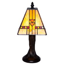 "Stained Glass Mini Mission 11"" Table Lamp"