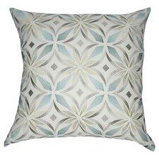 Floral Linen Throw Pillow
