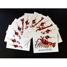 Christmas Crawfish Holiday Note Card (Set of 10)