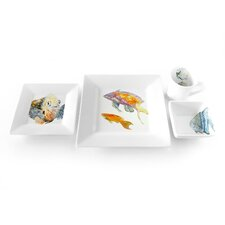 Pink and Yellow Basslet 4 Piece Place Setting