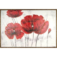 Red Floral by Tina O. Framed Painting