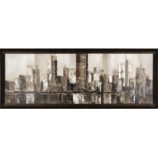 Brown City Scape by Tina O. Framed Painting