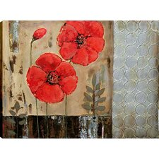 Geometric Floral I by Tina O. Painting on Wrapped Canvas