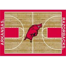 College Court Arkansas Razorbacks Rug