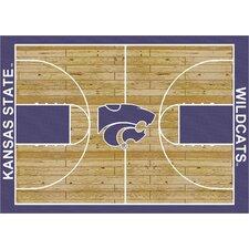 College Court Kansas State Wildcats Rug