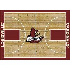 College Court Louisville Cardinals Rug