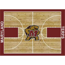 NCAA Court Maryland Novelty Rug