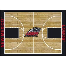 NCAA Court New Mexico Novelty Rug