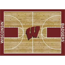 College Court NCAA Wisconsin Novelty Rug
