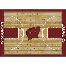College Court Wisconsin Badgers Rug