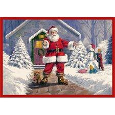 RJ McDonald Welcome Santa Area Rug