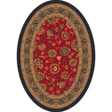 Pastiche Aydin Currant Red Oval Rug