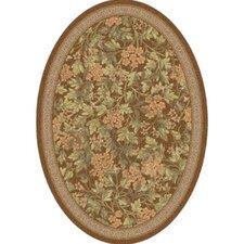 Pastiche Delphi Nutmeg Floral Oval Rug