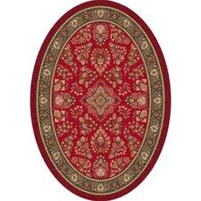 Pastiche Halkara Red Cinnamon Oval Rug
