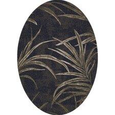 Pastiche Rain Forest Ebony Oval Rug