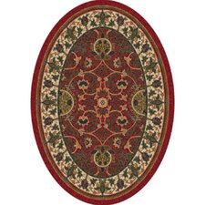 Pastiche Sumero Indian Red Oval Rug