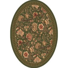 Pastiche Vachell Deep Olive Oval Rug